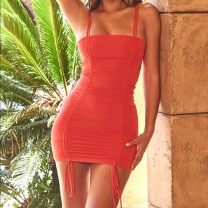 Sweet Little Ties Strappy Ruched Mini Dress